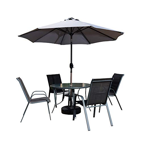 Ziigo Parasol Patio 265 cm Rectangulaire inclinable Parapluie Marché ...