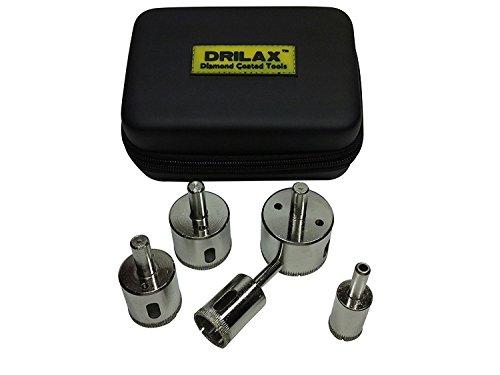 - DRILAX 5 Pcs Diamond Drill Bit Set 3/4