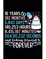 16th Wedding Anniversary , Gift Idea For Celebrate Memory Of 16 Years Marriage , Journal For Couples , Lovely Husband and Wife Notebook: Lined Notebook / Journal Gift , 110 Pages , 6x9 , Soft Cover , Matte Finish