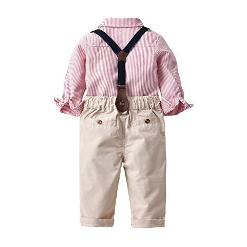ffb49fa3cf85c Lucaso ベビー服 男の子 スーツ ストライプ フォーマル セレモニー衣装 洋服 紳士服 長袖 子供服 赤ちゃん 可愛い