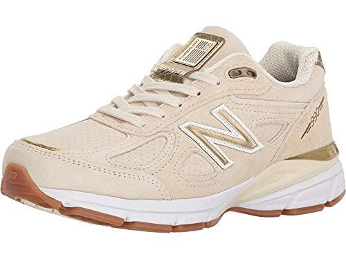 big sale 3a619 5b30e New Balance Women's 990v4 Running Shoe, Angora, 5 B US