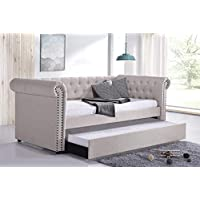FLIEKS Twin Daybed with Pull Out Trundle