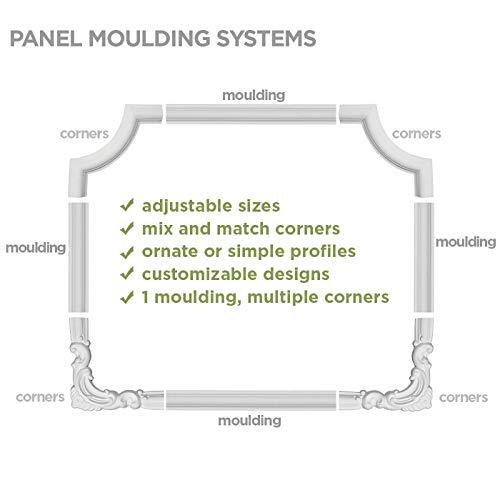 12 Piece Factory Primed 12-Pack 6 1//2H x 6 1//2W Ekena Millwork Bradford Wave PML06X06BR-CASE-12 Panel Moulding Corner