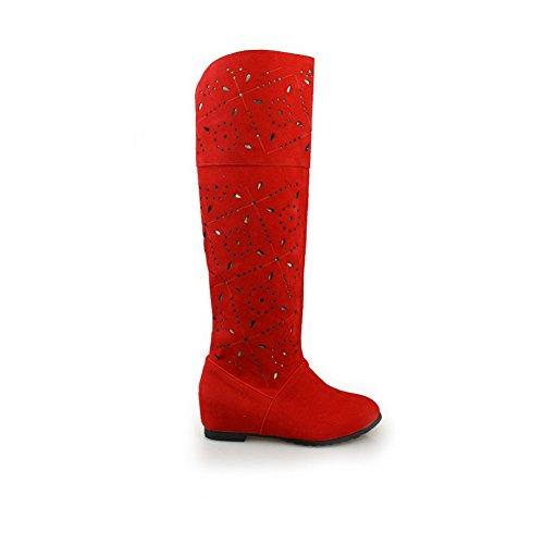AdeeSu mujer Rojo Botas Para Chukka 4w4xaqv8