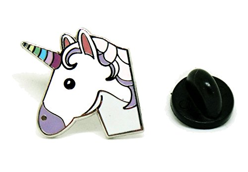PinMaze Unicorn Lapel Pin - Horn Pin - Fairy Tale Jacket Hat - Fairy Button Pin
