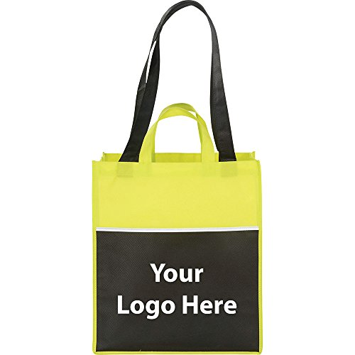 Checkout Shopper Tote - 250 Quantity - $2.10 Each - PROMOTIONAL PRODUCT / BULK / BRANDED with YOUR LOGO / CUSTOMIZED by Sunrise Identity