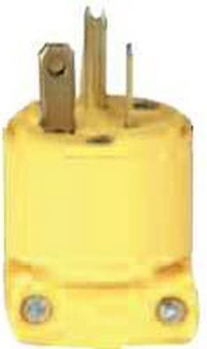 Commercial Grade 2-Pole Cord Plug Yellow Lot of 10 Cooper Wiring Devices 4509