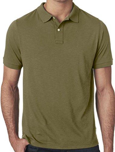Mens Performance Polo Shirt, XL Military Green