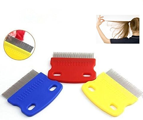 Gifts to go Hair Lice Comb Brushes Terminator Fine Egg Dust Nit Free Removal Stainless Steel.