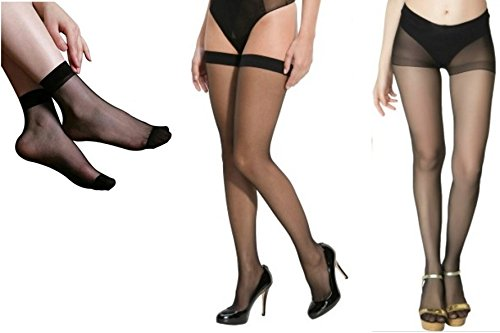 6b2bee15498dc Combo Pack: Girls Black Pantyhose, Stockings, Ultra-Thin Transparent Socks  -Free Shipping & COD Available: Amazon.in: Clothing & Accessories