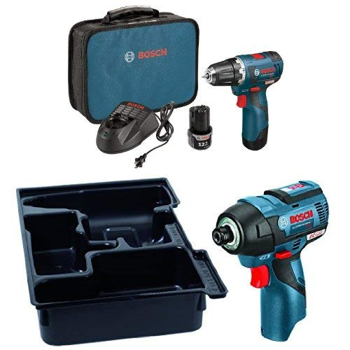 Bosch Combo Kit with Drill/Driver, Impact Driver, Lithium-Io