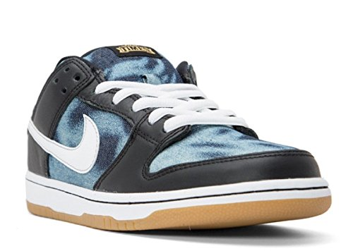 Nike Heren Dunk Lage Premie Enkellange Lederen Mode Sneaker Zwart / Midnight Marine / Metallic Goud / Wit