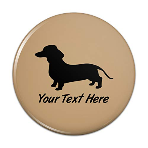 - Personalized Custom Dachshund Wiener Dog 1 Line Kitchen Refrigerator Locker Button Magnet - 3