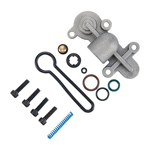 Spring Regulator (Orion Motor Tech 6.0 Blue Spring Upgrade Kit Fuel Pressure Regulator Kit for Ford 2003-2007 6.0L Powerstroke Ford F250 F350 F450 F550, OEM 3C3Z-9T517-AG)