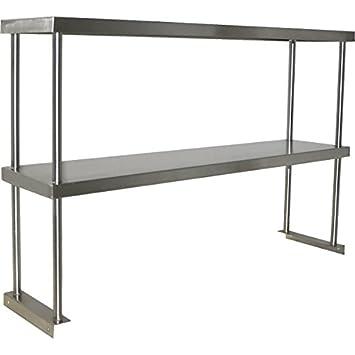 Stainless Steel Worktable Overshelf   Double Shelf