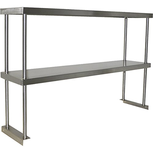 Stainless Steel Worktable Overshelf - Double Shelf by KegWorks