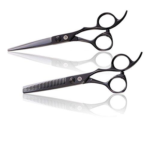 Saki Katana Japanese Hair Scissors Set (6, Black) by Saki Shears