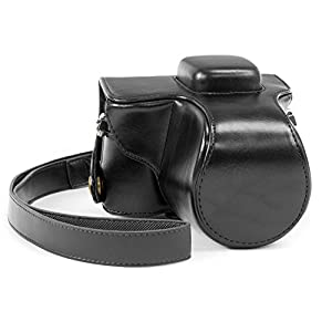 """MegaGear """"Ever Ready"""" Protective Leather Camera Case, Bag for Olympus E-PL7 16MP Compact System Camera"""