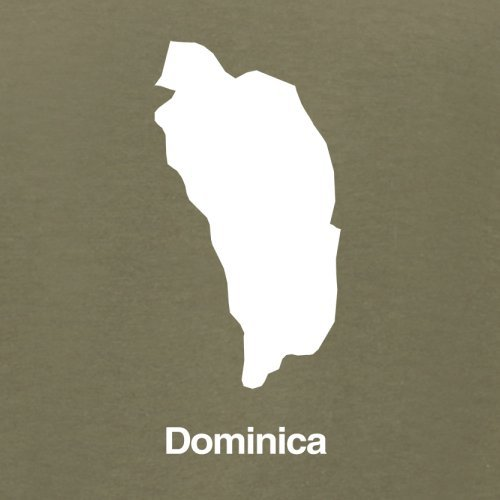 Dominica Silhouette - Herren T-Shirt - Khaki - L