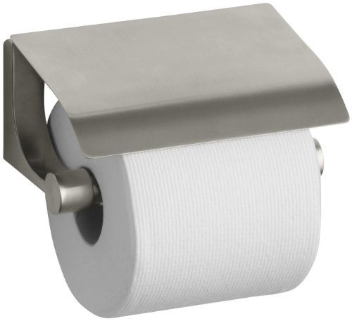 Kohler K-11584-BN Loure Covered Toilet Tissue Holder, Vibrant Brushed Nickel by Kohler