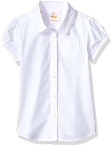 Gymboree Little Girls' Short Sleeve School Uniform Blouse