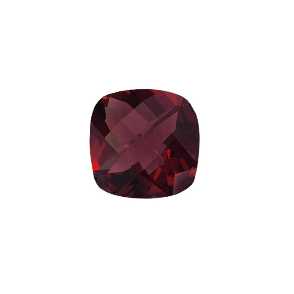 Mysticdrop 8.18-8.95 Cts of 12x12 mm AAA Cushion Checker Board Mozambique Garnet (1 pc) Loose Gemstone by Mysticdrop (Image #1)