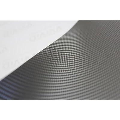 VViViD XPO Gunmetal Grey Carbon Fiber 5 Feet x 1 Foot Car Wrap Vinyl Roll with Air Release Technology: Automotive