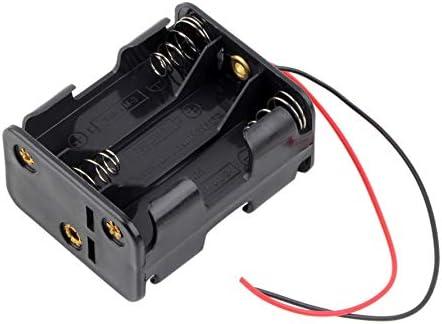 Ningbao 1 PCS 6 x AA Tamaño estándar Batería Ranura Soporte Caja 9V Estuche con Cable: Amazon.es: Hogar
