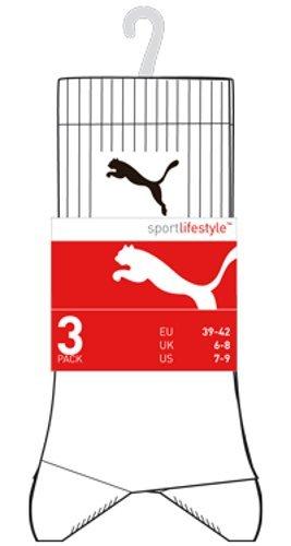 Homme 3 Sport De Blanc Chaussettes À Lot Puma Logo SIA00q