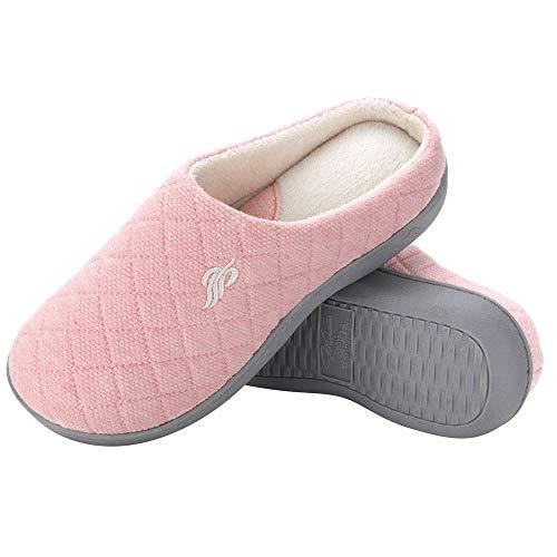 d0c6bed4b160 Wishcotton Womens Breathable Memory Foam Slipper Nonslip Rubber Sole House  Shoes