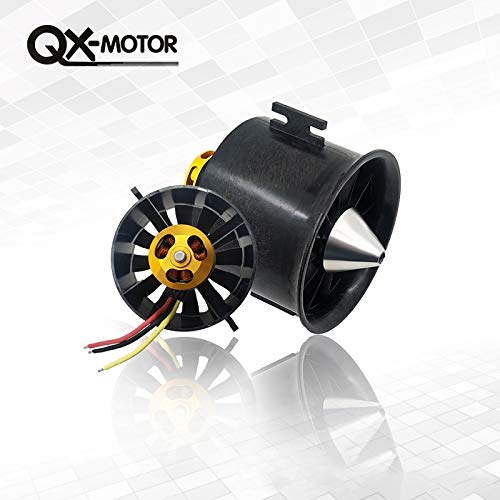 Kamas 70mm EDF Motor QF2827 1800kv 6s Power-Saving Version of The Aircraft Model Fixed-Wing 70mm ducted Fan Aircraft Model