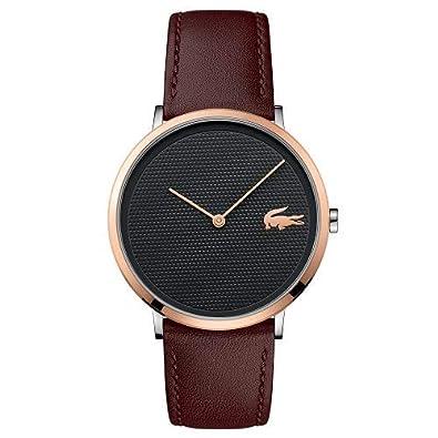 a6f6caea5a8 Relógio Lacoste Masculino Couro Marrom - 2010952  Amazon.com.br ...