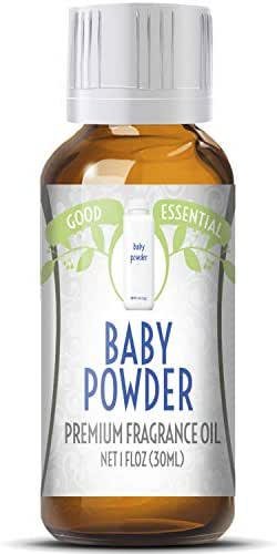 Baby Powder Scented Oil by Good Essential (Huge 1oz Bottle - Premium Grade Fragrance Oil) - Perfect for Aromatherapy, Soaps, Candles, Slime, Lotions, and More!