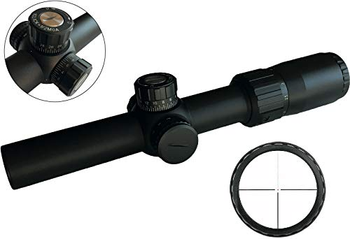 S2Delta 1-4x24mm Illuminated Rifle Sight, 30mm Main Tube, Locking turrets