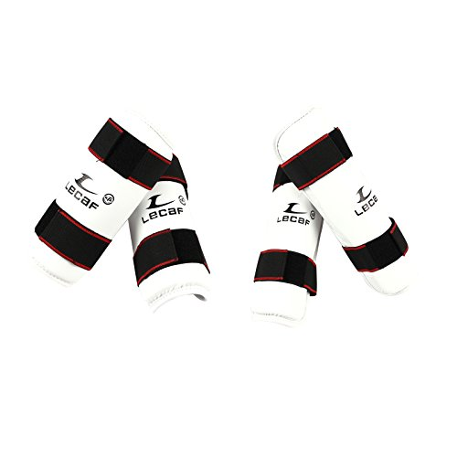 LeCaf ForeArm and Shin Protectors Guard Set For Taekwondo, Martial Arts (Small)