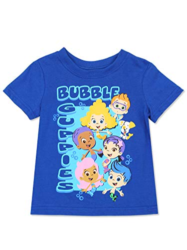 Bubble Guppies Toddler Boys Short Sleeve Tee (2T, Blue/Multi) -