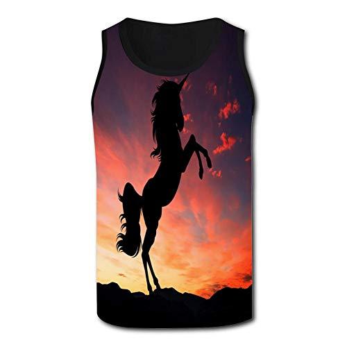 - Sunset Light Silhouette Men's Sleeveless Quick-Drying Tank Top T-Shirt XL Black