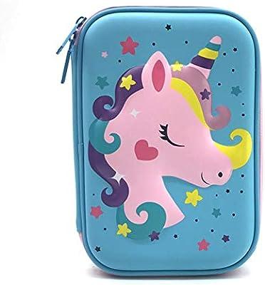 Caja de lápices de unicornio pastel kalem kutusu Kawaii estuche material escolar escolar astuccio scuola estuche de lápices papelería papelería, G: Amazon.es: Oficina y papelería