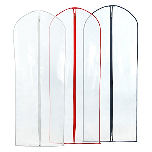 Hangerworld Crystal Zipped Covers Coloured