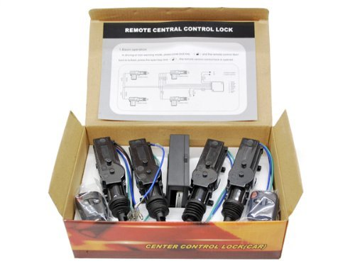 Biltek CX-402 Conversion Kit (Universal Central Lock and Unlock for 2, 3, 4 car Truck Doors 4 actuators) (Door Truck Actuator Lock)
