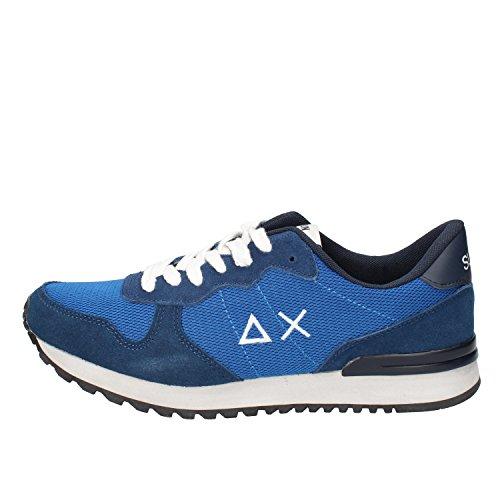 Blu Tessuto Sneaker Camoscio Uomo SUN 68 wOZRqz6xWX