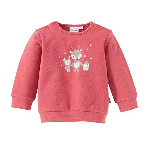 BORNINO Sweatshirt langarm Baby-Shirt Babykleidung, Größe 74/80, rot