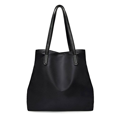 Casual Tote WITERY Purse Womens Bag Tote Handbags Bag Ladies Folding Travel Nylon Messenger Beach Black Shopping Bag Shoulder Bag f7fqSa