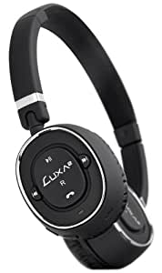 LUXA2 LHA0049-A Red BT-X3 Bluetooth Stereo Headphone, Black