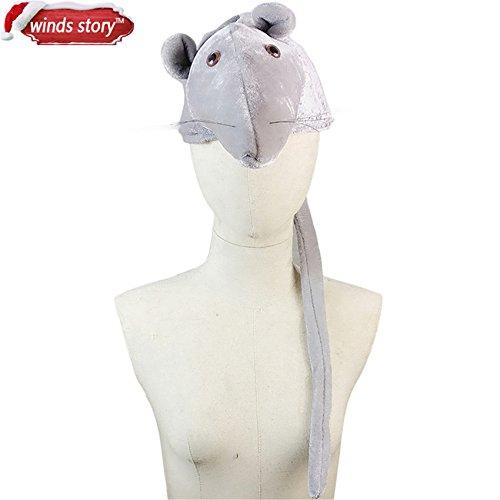 UltaBuild(TM) 1PCS Cartoon Animal Hat Fluffy Plush Cap Earmuff Unisex Perfect Gift Women's Men's Party/Christmas Gift/Dress up The (Popcorn Fancy Dress Costume)