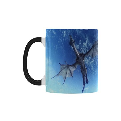 Ancient Dragon 11オンスセラミックMorphing Mug Cup Coffee/Tea Mug (Two Sides) B07F3J3FL1