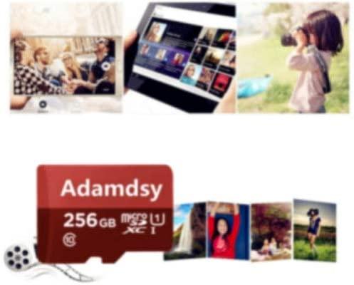 Adamdsy Tarjeta Micro SD 256 GB, microSDXC 256 GB Tarjeta De Memoria + Adaptador SD para cámaras, tabletas y Android Smartphones (R158-XR1) (256GB)
