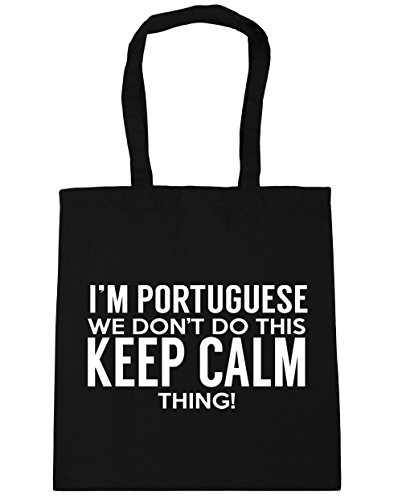 this I'm Beach Bag Portuguese Gym Tote keep x38cm Shopping do 42cm litres thing calm don't 10 Black we HippoWarehouse Xfw7xf