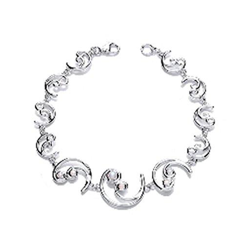 Magic & d'Argent 925/1000-Perle d'eau douce-combiné dans ce joli Bracelet