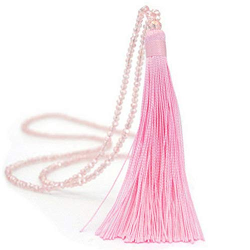 Werrox Women Long Tassel Metal Pendant Necklace Sweater Leather Boho Chain Jewelry Gift | Model NCKLCS - 25249 |]()